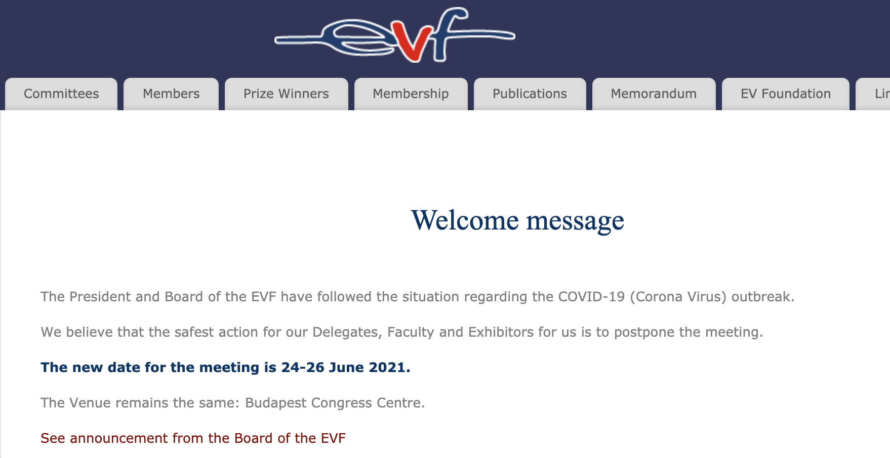 EVF Annual Meeting (European Venous Forum)