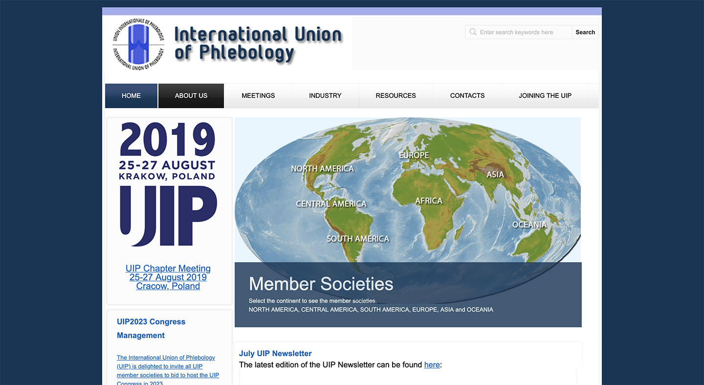 UIP – Union International of Phlebology – World congress