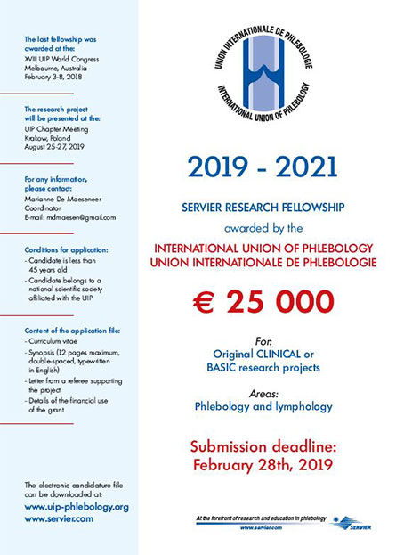 Servier/UIP Research Fellowship 2019 – 2021