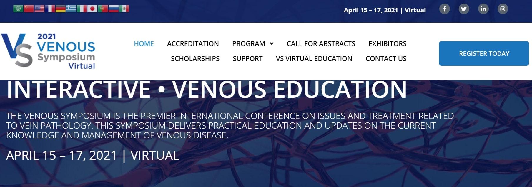 April 15-17, 2021 VENOUS SYMPOSIUM