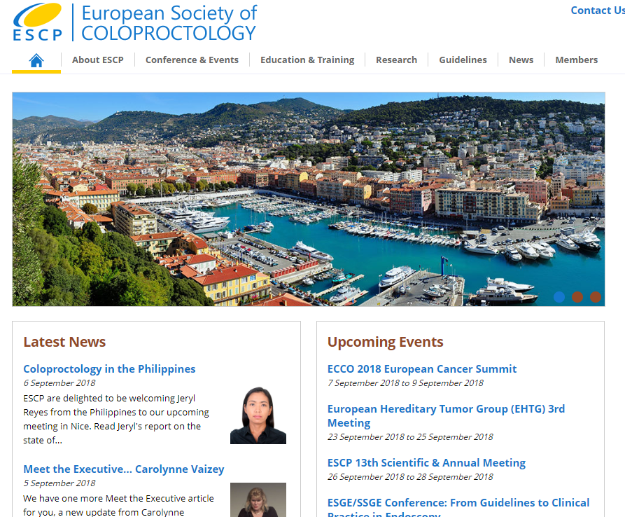European society of coloproctology (ESCP)
